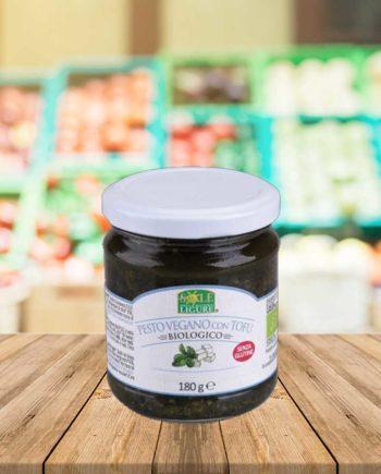 pesto-vegan--avec-tofu-100--vegetal-bio-il-sole-della-rivier-180-g